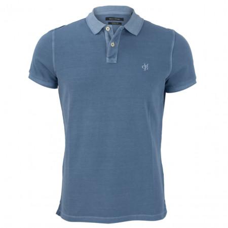 SALE % | Marc O'Polo | Poloshirt - Regular Fit - unifarben | Blau online im Shop bei meinfischer.de kaufen