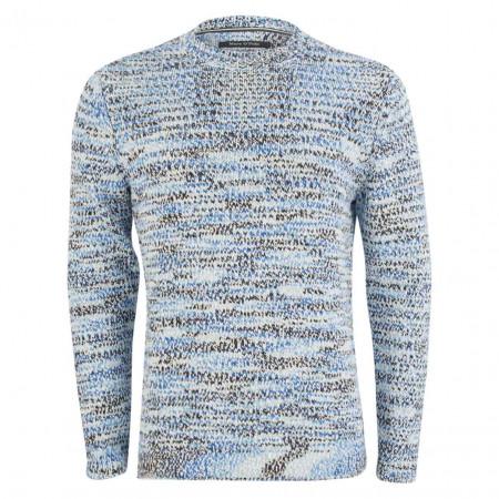 SALE % | Marc O'Polo | Pullover - Regular Fit - Melange-Optik | Blau online im Shop bei meinfischer.de kaufen