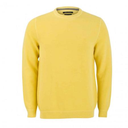 SALE % | Marc O'Polo | Pullover - Regular Fit - Struktur | Gelb online im Shop bei meinfischer.de kaufen