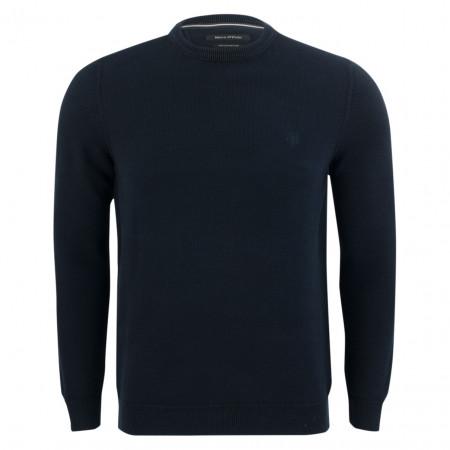 SALE % | Marc O'Polo | Pullover - Regular Fit - Struktur | Blau online im Shop bei meinfischer.de kaufen