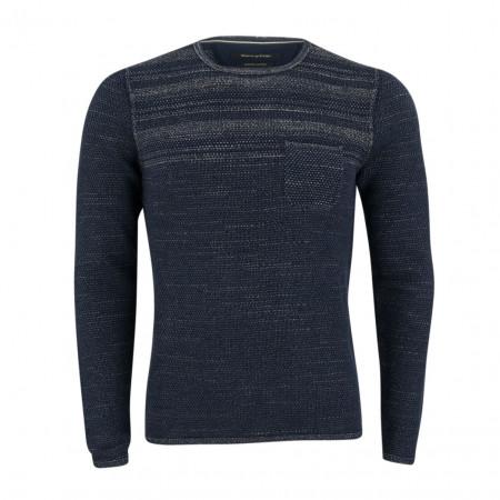 SALE % | Boss Casual | Pullover - Slim Fit - Brusttasche | Blau online im Shop bei meinfischer.de kaufen