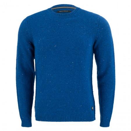 SALE % | Marc O'Polo | Woll-Pullover - Regular Fit - Crewneck | Blau online im Shop bei meinfischer.de kaufen