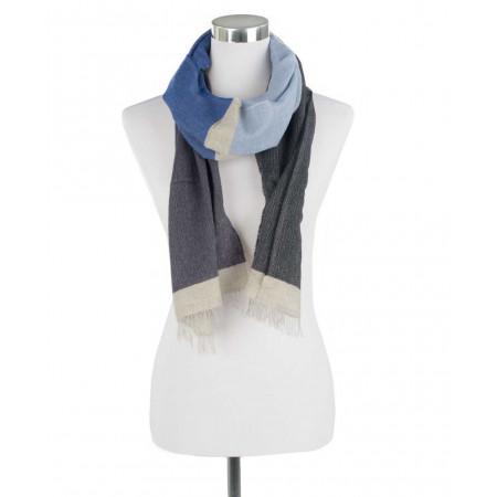 SALE % | Boss Casual | Leichter Schal - Fransen - Wolle | Blau online im Shop bei meinfischer.de kaufen