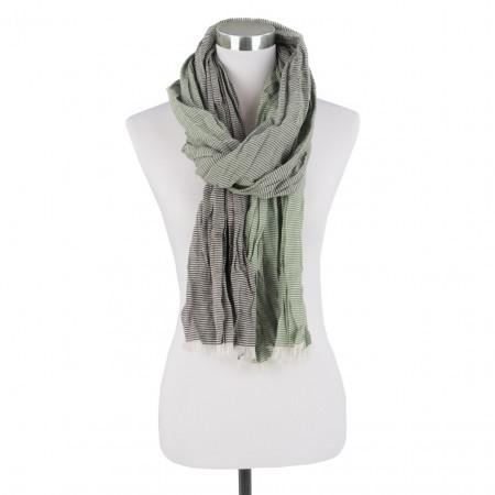 SALE % | Boss Casual | Schal - Stripes - Fransen | Grün online im Shop bei meinfischer.de kaufen