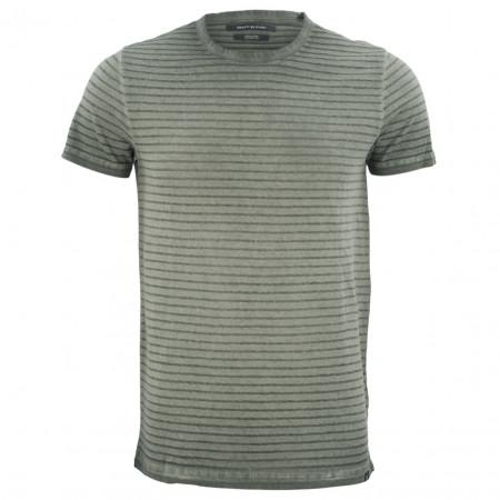 SALE % | Marc O'Polo | T-Shirt - Shaped Fit - Cold-dye-Optik | Grün online im Shop bei meinfischer.de kaufen