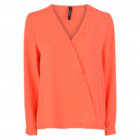 SALE %   Marc Cain   Blusenshirt - Comfort Fit - V-Neck   Rot online im Shop bei meinfischer.de kaufen