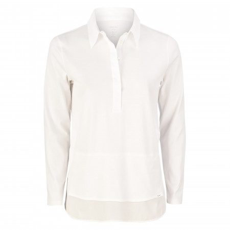 SALE % | Marc Cain | Poloshirt - Regular Fit - unfiarben | Weiß online im Shop bei meinfischer.de kaufen
