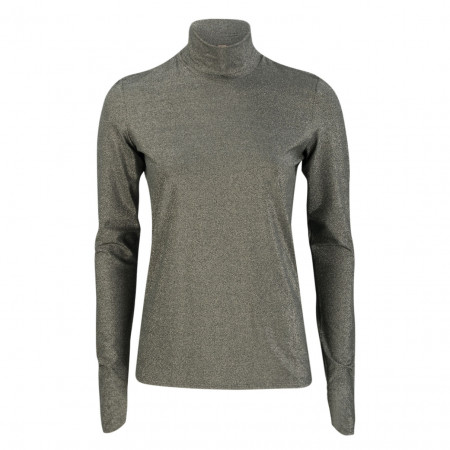 SALE % | Marc Cain | Shirt - Slim Fit - Glitzer-Optik | Grau online im Shop bei meinfischer.de kaufen
