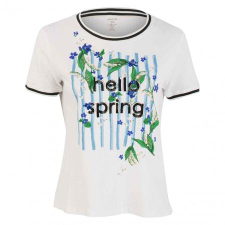 SALE % | Marc Cain | T-Shirt - Regular Fit - Print | Weiß online im Shop bei meinfischer.de kaufen
