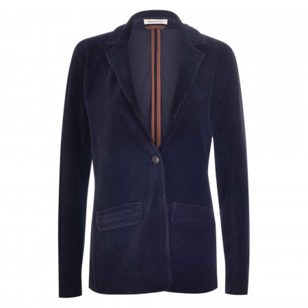 SALE % | Marc O'Polo | Jerseyblazer - Regular Fit - unifarben | Blau online im Shop bei meinfischer.de kaufen