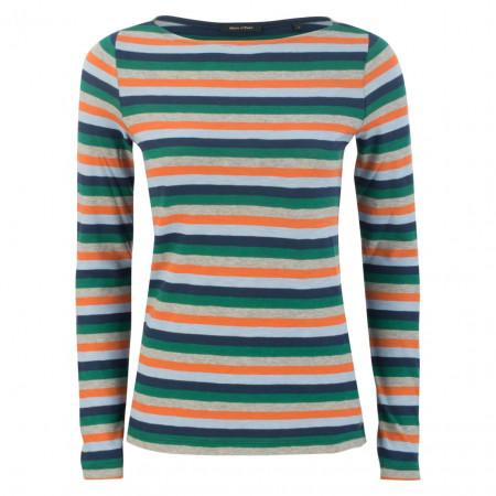 SALE % | Marc O'Polo | Longsleeve - Slim Fit - Stripes | Bunt online im Shop bei meinfischer.de kaufen