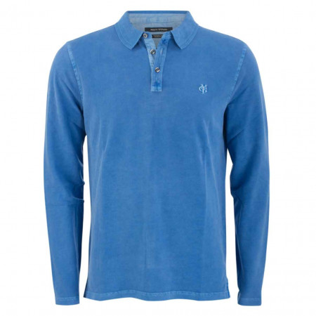 SALE % | Marc O'Polo | Poloshirt - Regular FIt - Label-Patch | Blau online im Shop bei meinfischer.de kaufen
