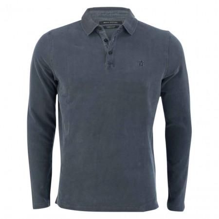 SALE % | Marc O'Polo | Poloshirt - Regular FIt - Label-Patch | Blau online im Shop bei meinfischer.de kaufen