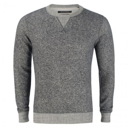 SALE % | Marc O'Polo | Pullover - Regular Fit - Meliert | Blau online im Shop bei meinfischer.de kaufen