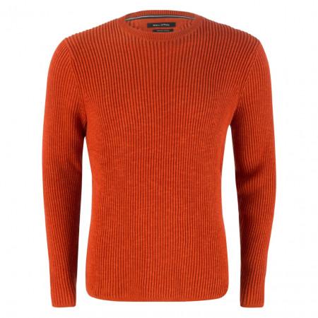 SALE % | Marc O'Polo | Pullover - Regular Fit - Crewneck | Orange online im Shop bei meinfischer.de kaufen