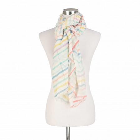 SALE % | Marc O'Polo | Schal - Muster | Weiß online im Shop bei meinfischer.de kaufen