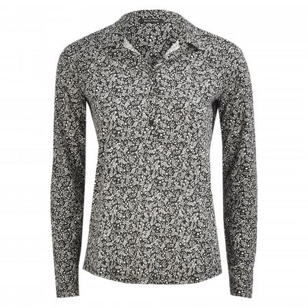 SALE %   Marc O'Polo   Shirtbluse - Loose Fit - Print   Schwarz online im Shop bei meinfischer.de kaufen
