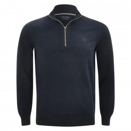 SALE % | Marc O'Polo | Troyer - Regular Fit - Zip | Blau online im Shop bei meinfischer.de kaufen