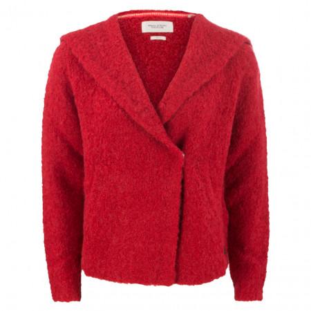 SALE % | Marc O'Polo Denim | Strickjacke - oversized - Kapuze | Rot online im Shop bei meinfischer.de kaufen