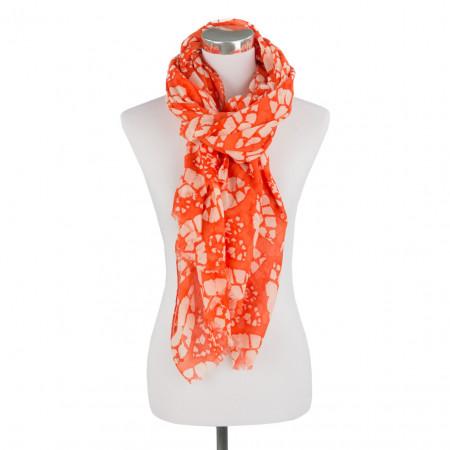 SALE % | Boss Casual | Schal - Gaspare - Muster | Orange online im Shop bei meinfischer.de kaufen