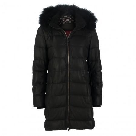 SALE %   Milestone   Ledermantel - Regular Fit - Fake Fur   Schwarz online im Shop bei meinfischer.de kaufen