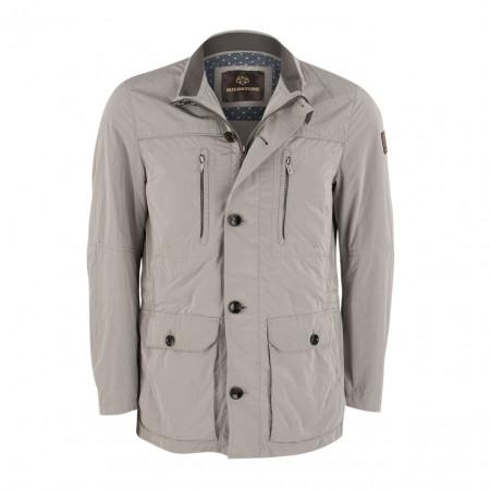 SALE % | Boss Casual | Übergangsjacke - Regular Fit - Knopfblende | Grau online im Shop bei meinfischer.de kaufen