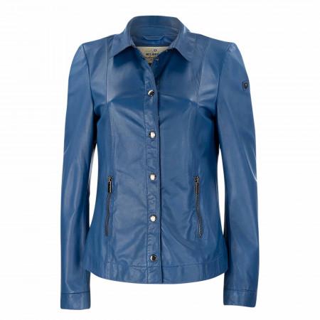 SALE % | Milestone | Lederjacke - Marcella - regular Fit | Blau online im Shop bei meinfischer.de kaufen