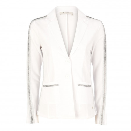 SALE % | Monari | Blazer - Comfort Fit - Strick-Optik | Weiß online im Shop bei meinfischer.de kaufen