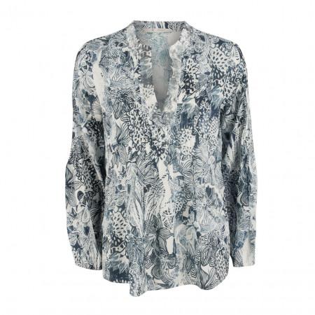 SALE % | Boss Casual | Bluse - Regular Fit - Paillettenzier | Blau online im Shop bei meinfischer.de kaufen