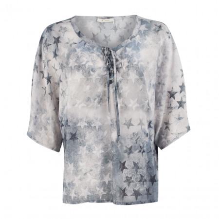 SALE % | Boss Casual | Bluse - oversized - Sternenprint | Blau online im Shop bei meinfischer.de kaufen