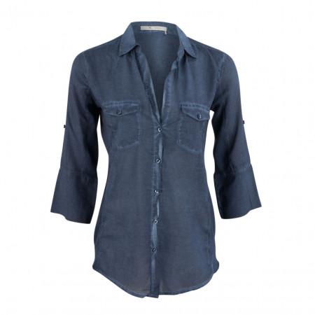 SALE % | Boss Casual | Hemdbluse - Slim Fit - Cold Dyed-Optik | Blau online im Shop bei meinfischer.de kaufen