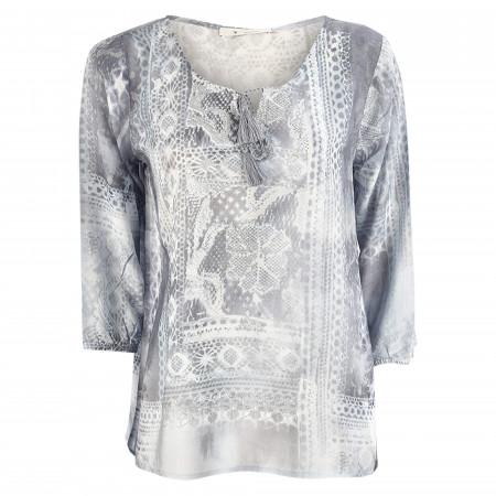 SALE % | Monari | Bluse - Comfort Fit - Muster | Blau online im Shop bei meinfischer.de kaufen