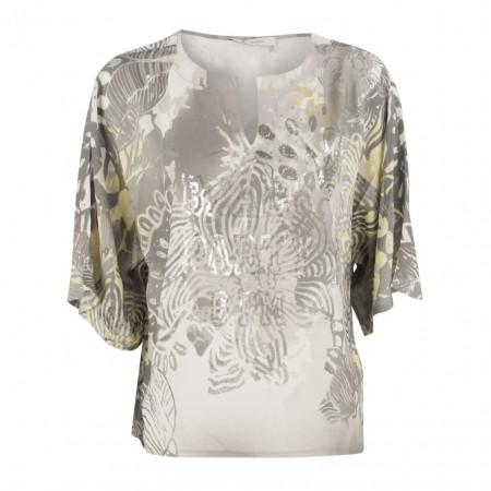SALE % | Boss Casual | Bluse - Leisure Fit - Flowerprint | Grau online im Shop bei meinfischer.de kaufen