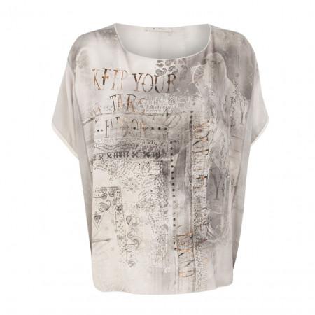 SALE %   Boss Casual   Bluse - oversized - Nietendekor   Grau online im Shop bei meinfischer.de kaufen