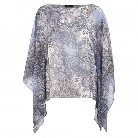 SALE % | Monari | Bluse - Loose Fit - Paisley | Blau online im Shop bei meinfischer.de kaufen