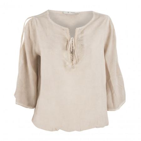 SALE % | Boss Casual | Bluse - oversized - Vintage-Optik | Beige online im Shop bei meinfischer.de kaufen
