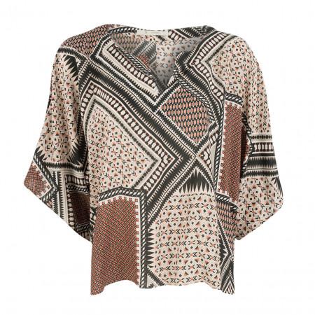 SALE %   Boss Casual   Bluse - oversized  - Muster   Bunt online im Shop bei meinfischer.de kaufen