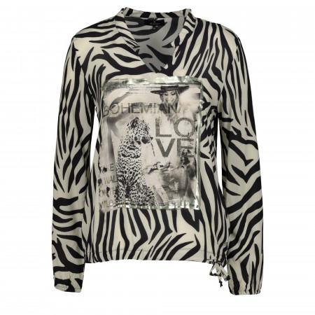 SALE % | Monari | Bluse - Comfort Fit - Animalprint | Schwarz online im Shop bei meinfischer.de kaufen