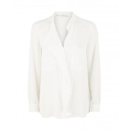 SALE % | Boss Casual | Chiffonbluse -  Brusttaschen - Volant | Weiß online im Shop bei meinfischer.de kaufen