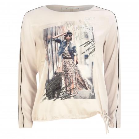 SALE % | Monari | Blusenshirt - Comfort Fit  - Fotodruck | Beige online im Shop bei meinfischer.de kaufen