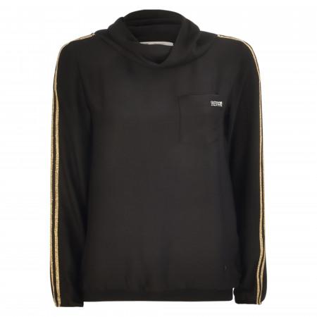SALE % | Monari | Blusenshirt - Comfort Fit - Streifen | Schwarz online im Shop bei meinfischer.de kaufen