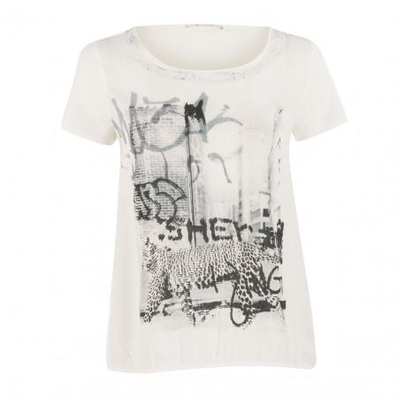 SALE % | Boss Casual | Blusenshirt - oversized - Print | Weiß online im Shop bei meinfischer.de kaufen