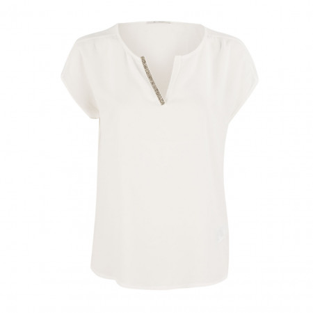 SALE %   Boss Casual   Blusenshirt - Regular Fit - Glitzerpatte   Weiß online im Shop bei meinfischer.de kaufen