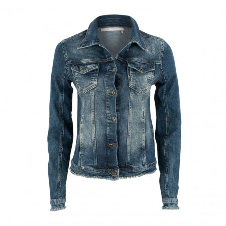 SALE % | Boss Casual | Denimjacke - Slim Fit - Used-Optik | Blau online im Shop bei meinfischer.de kaufen