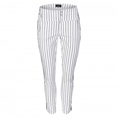 SALE % | Monari | Hose - Slim Fit - Stripes | Weiß online im Shop bei meinfischer.de kaufen