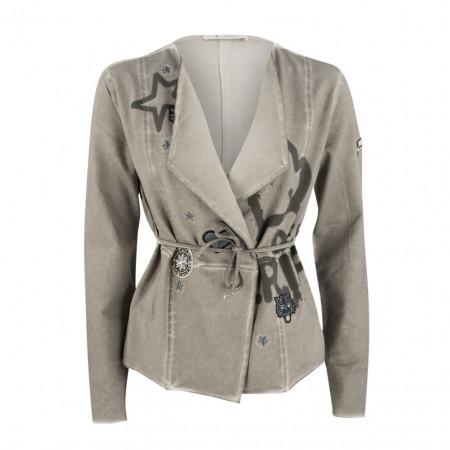 SALE %   Boss Casual   Sweatblazer - fitted - Patches   Beige online im Shop bei meinfischer.de kaufen