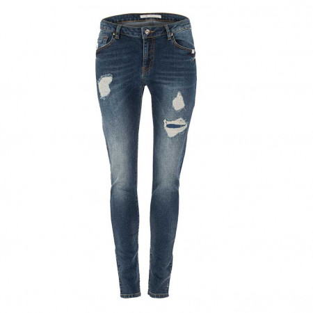 SALE % | Boss Casual | Jeans - Slim Fit - Destroyedpatches | Blau online im Shop bei meinfischer.de kaufen