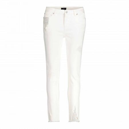 SALE % | Monari | Hose - Regular Fit - Material-Mix | Weiß online im Shop bei meinfischer.de kaufen