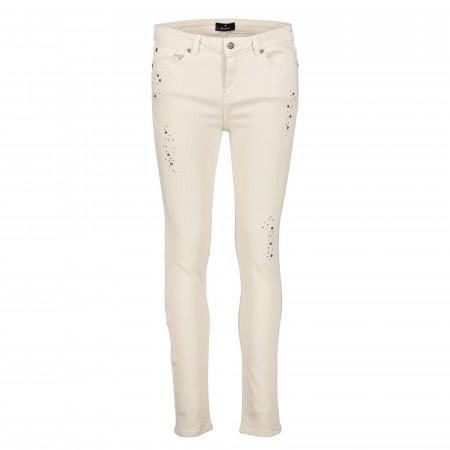 SALE % | Monari | Jeans - Slim Fit - Nietendekor | Weiß online im Shop bei meinfischer.de kaufen
