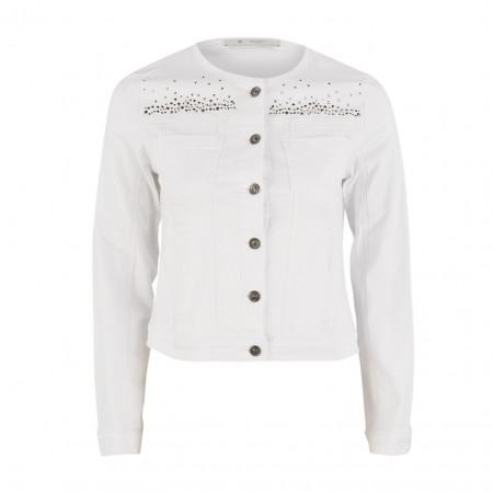 SALE %   Boss Casual   Denimjacke - Slim Fit - Strassdekor   Weiß online im Shop bei meinfischer.de kaufen
